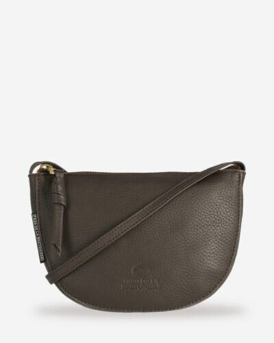 Crossbody smooth leather brown