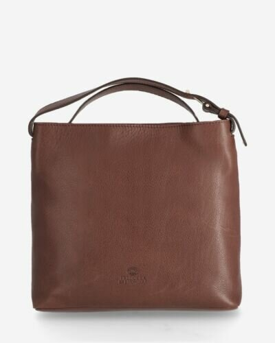 Crossbody soft smooth leather brown