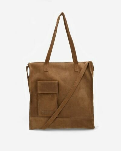 Large shopper suede brown