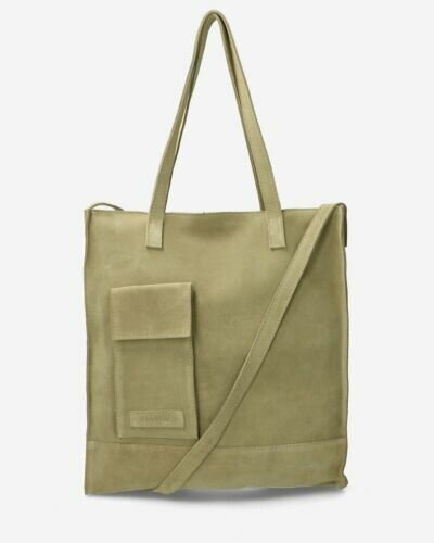 Large shopper suede green