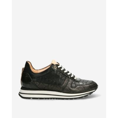 Sneaker-shiny-printed-leather-black-