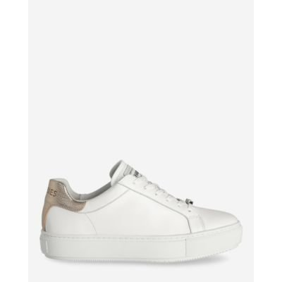 Sneaker-smooth-leather-white-gold