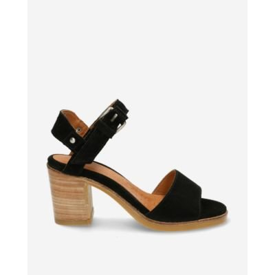 Black suede strappy sandal