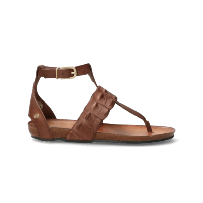 Sandal-cork-footbed-smooth-leather-dark-brown