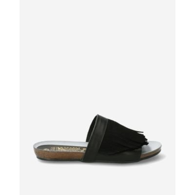 Black-leather-and-suede-slipper