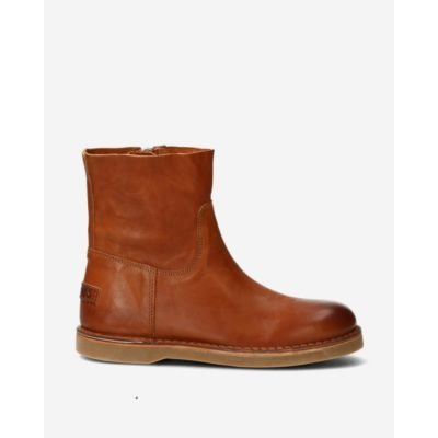 Ankle-boot-with-zipper-smooth-leather-cognac