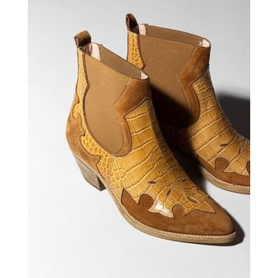Western-Ankle-Boot-Brown