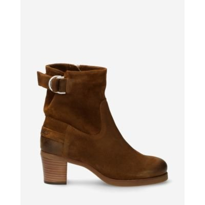 Heeled-ankle-boot-waxed-suede-brown