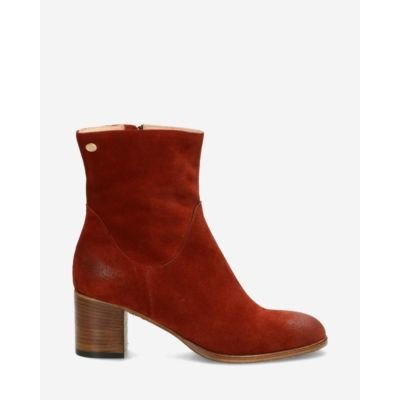 Heeled-ankle-boot-suede-brick-brown