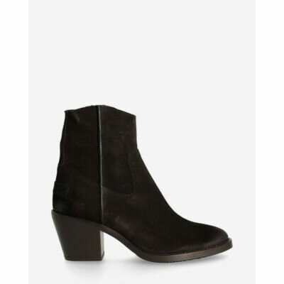 Heeled-ankle-boot-waxed-suede-black