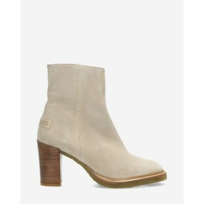 Zipper-ankleboot-waxed-sanded-suede-light-grey