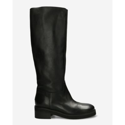 Boot soft smooth leather black