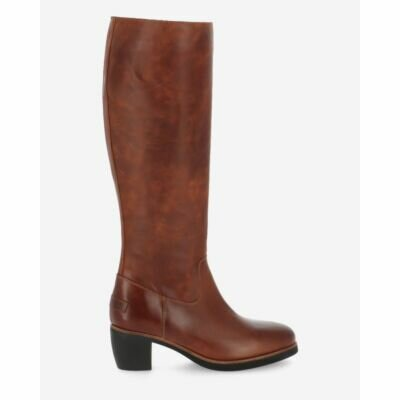 Boot smooth leather cognac