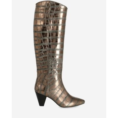 Heeled-boot-metallic-printed-leather-antracite