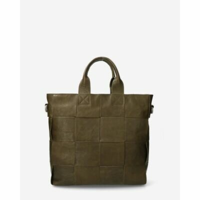 Handbag-woven-leather-dark-olive