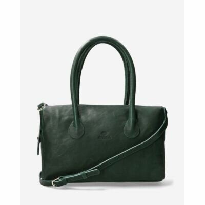Handbag-smooth-leather-dark-green
