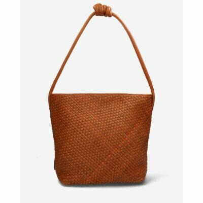 Large-shoulderbag-woven-grain-leather-cognac