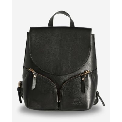 Backpack-soft-smooth-leather-black