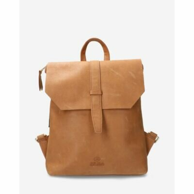 Backpack-grain-leather-sand