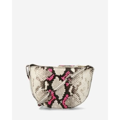 Crossbody-bag-with-snake-print-and-neon-rose