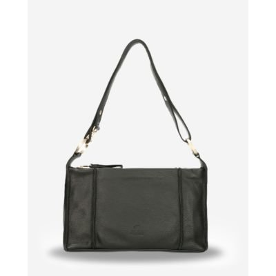 Shoulder-bag-smooth-leather-black