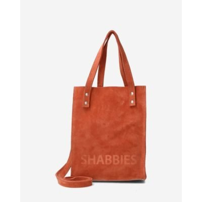 Reddish-brown-suede-mini-tote