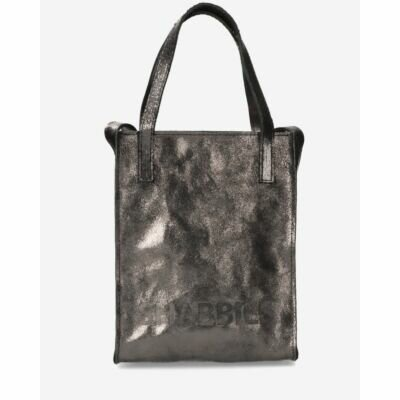 Small-shopper-vegetable-metallic-leather-black