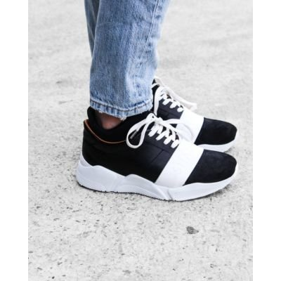 Sneaker-smooth-leather-with-neoprene-sock-Black-