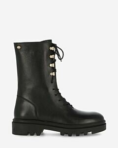 Lace-up boot smooth leather black