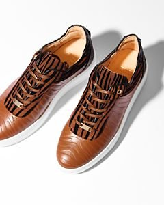 SNEAKER-ZEBRA-PRINTED-SMOOTH-LEATHER-Cognac