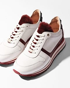 SNEAKER-SMOOTH-LEATHER-WITH-FUR-DETAIL-White-White-Red