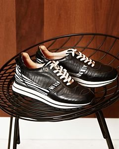 SNEAKER-ZEBRA-PRINTED-SMOOTH-LEATHER-Black