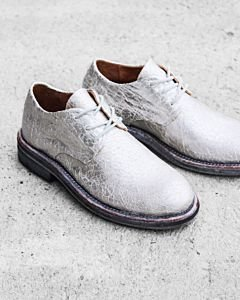 Lace-up-shoes-shiny-printed-leather-Silver