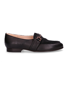 Loafer-smooth-leather-with-haircalf-Black