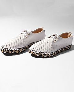 Lace-up-espadrille-shiny-printed-leather-Ivory-White