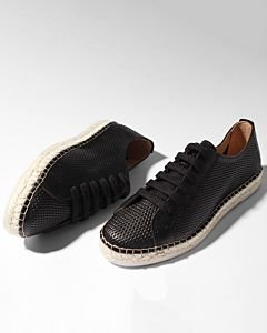Lace-up-espadrille-cutted-smooth-leather-Black-