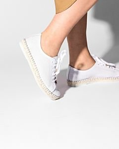 Lace-up-espadrille-cutted-smooth-leather-White-