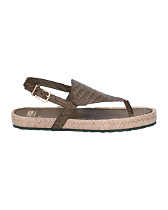 Sandal-printed-smooth-leather-Green