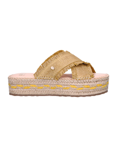 Espadrille-slipper-shiny-printed-leather-Yellow