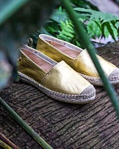 Loafer-espadrille-metallic-goud-
