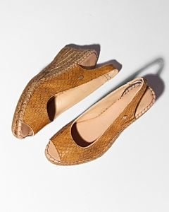 Espadrille-shiny-printed-leather-Brown