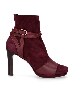 Sandalet-smooth-leather-with-suede-sock-Bordeaux