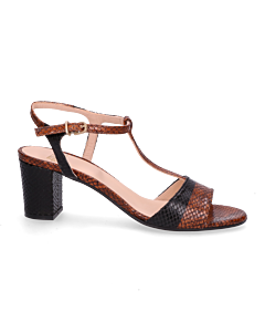 Heeled-sandal-printed-leather-Cognac