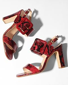 Sandalette-printed-leather-Dark-Red
