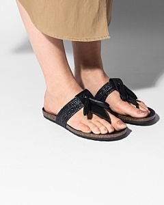 Slipper-glad-leer-zwart