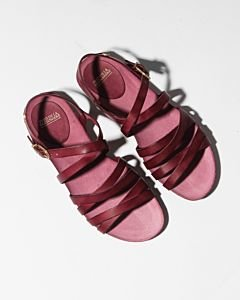 Sandal-smooth-leather-Bordeaux