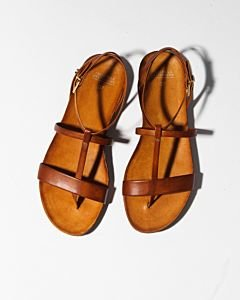 Sandal-smooth-leather-Light-Brown-