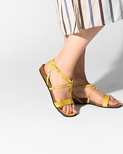 Sandal-smooth-leather-Yellow-