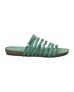Slipper-smooth-leather-green