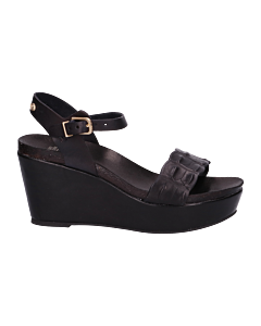 Sandal-with-wedge-smooth-leather-Black